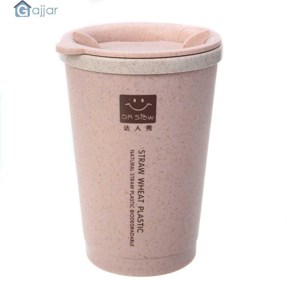 280 ML Xícara de Água de Viagem Palha de Trigo Portátil Double-wall Copos Caneca de Chá de Café Do Escritório Presentes balão de vácuo Portátil dropshiping Aug2