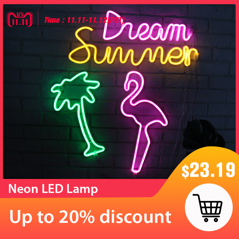 Holiday Neon Lamp LED Novelty Night Light For Home Festival Wedding Indoor Decor Illumination Atmosphere Light Sign For Patry недорого