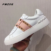 Hot Sell Flat Shoes Women Casual Sneakers Woman Platform Shoes Loafers Slip On Shoes For Women Luxury Brand Genuine Leather Shoe