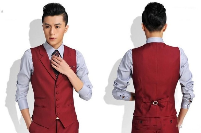 Brand New Groom Vests 3 Colors Groomsmens/Best Man Vest Custom Made Size and Color Five Buttons Wedding/Prom/Dinner Waistcoat
