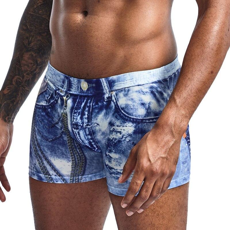Brand Sexy Men Swimwear Shorts Men Swimsuits Surf Board Beach Wear Man Swimming Trunks Boxer Shorts Swim Suits Gay Pouch