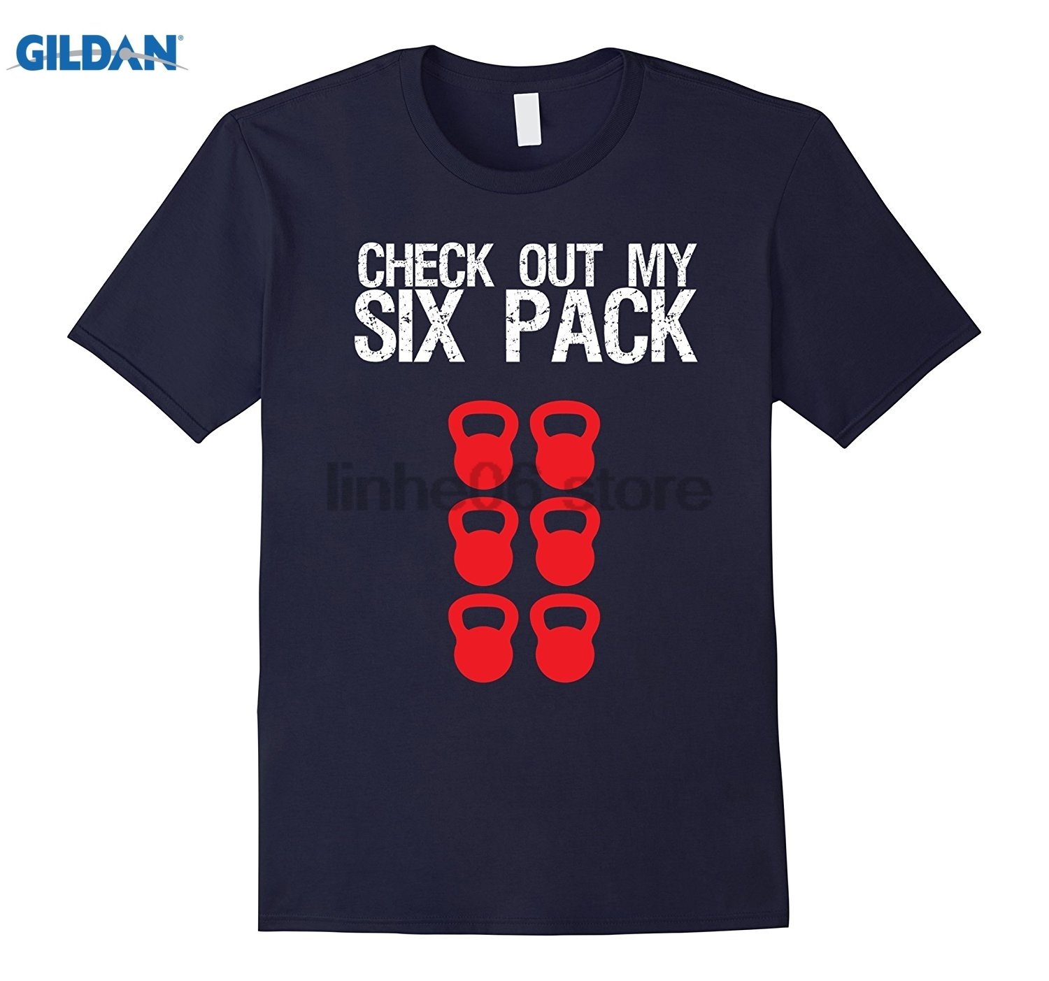 GILDAN Check Out My 6 Pack Cross Fit T-Shirt Funny Workout Fitness Mothers Day Ms. T-shi ...