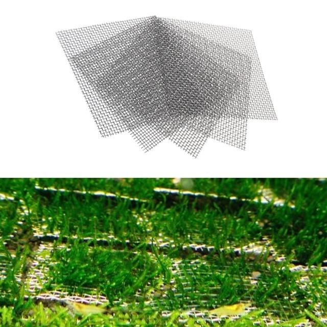 8x8cm Aquarium Stainless Steel Wire Mesh Pad Plants Fish Tank Moss Net Decor Background