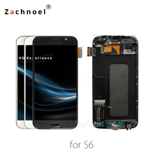 Замена Экран для Samsung Galaxy S6 G920 SM-G920F G920F G920FD ЖК-дисплей Дисплей Сенсорный экран с рамкой планшета Ассамблеи