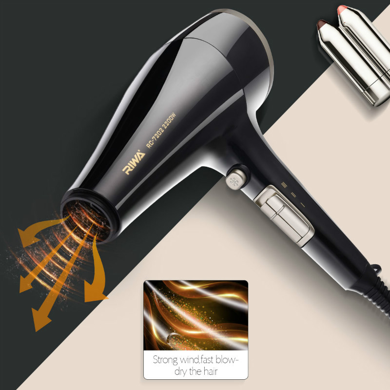 2200W Original Fast Blow Dry Hair Dryer Professional Salon Styling Tool Hot/cold air Hairdryer lock Moisture Protect Hair P50 braun 3in1 multifunctional hair styling tool hairdryer hair curler hair dryer blow dryer comb brush hairbrush professional as720