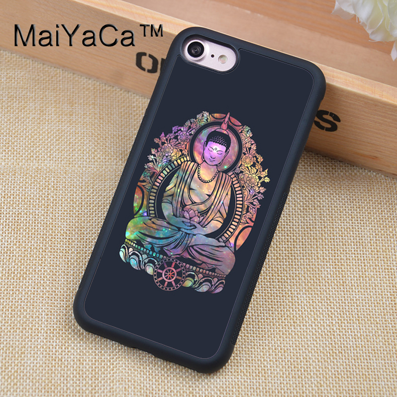 MaiYaCa Galactic Gautama Buddha Phone Case Skin Shell For iPhone 6 6S Plus 7 7 Plus 5 5S 5C SE 4S Rubber Soft Cell Housing Cover