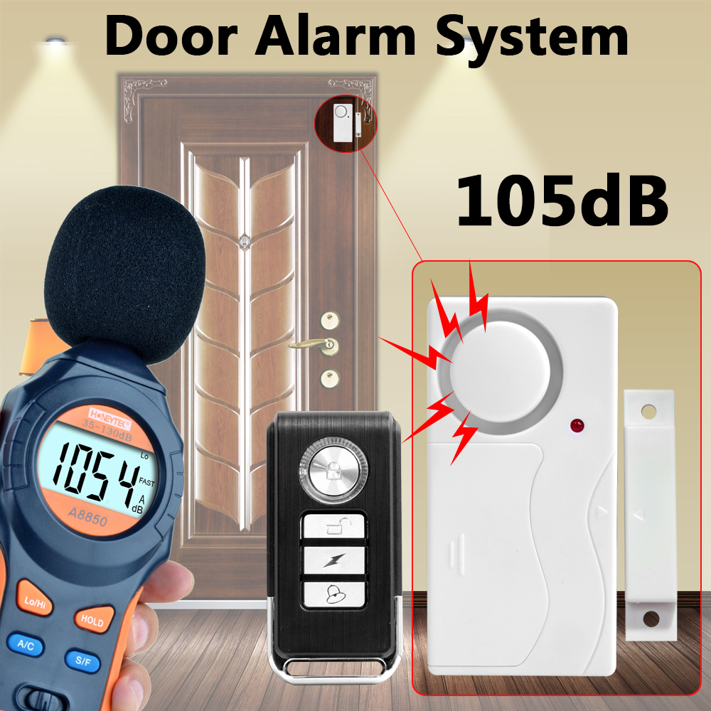 Door alarm system Door Window Entry Security ABS Wireless Remote Control Door Sensor Alarm Host Alarm