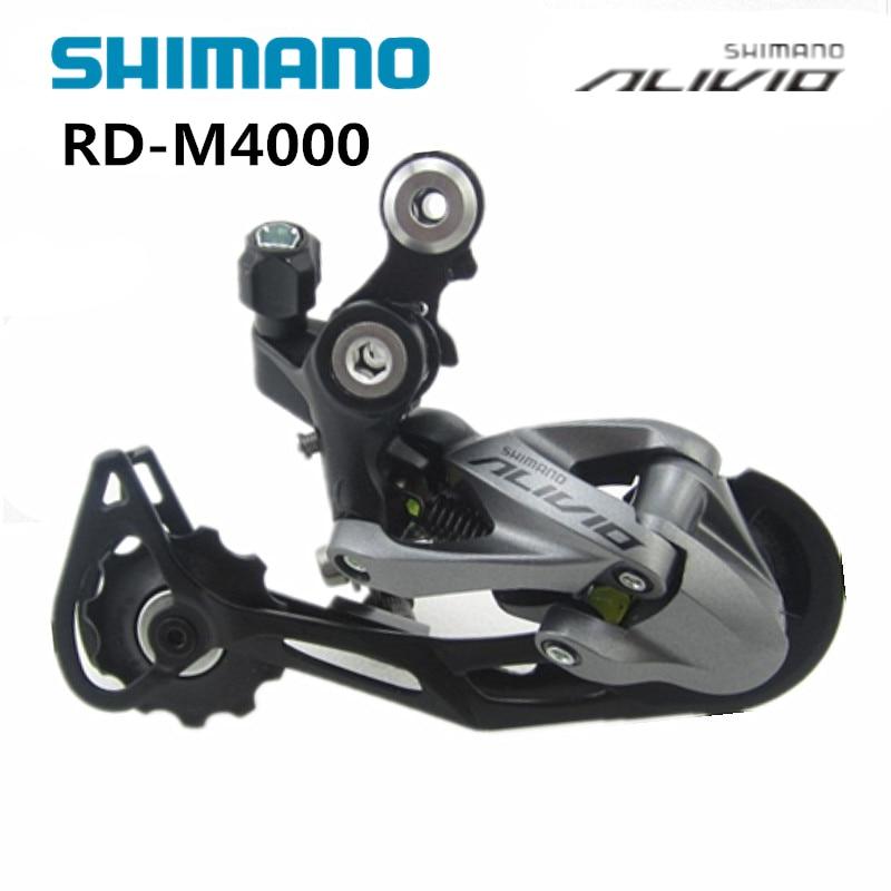 shimano ALIVIO RD-M4000 Rear Derailleur 3*9s 27s MTB bike bicycle derailleur mtb bike shimano alivio m4000 suit m4050 t4060 chain wheel bb52 axis m4000 thumb shifter derailleur hg300 9s flywheel hg53 chain