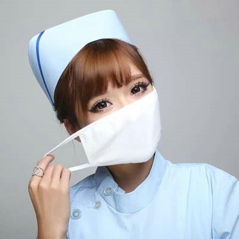 2019 Mode Baumwolle Gestrickte Maske Weiß Kamm Hohe Elastische Doktor Nurse Erwachsene Kinder Kang öffentlichen Gesundheit Warme Widerstand Staub Atmungsaktiv