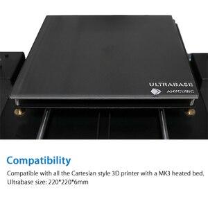 Image 2 - Anycubic Ultrabase 3D yazıcı platformu isıtmalı yatak inşa yüzey cam plaka 240x220x6mm ile uyumlu MK2 MK3 sıcak yatak