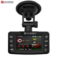 Ruccess Radar Detectors 3 in 1 DVR Radar Detector GPS Anti Radar for Car Full HD 1296P Car Camera 1080P Video Recorder Auto Cam