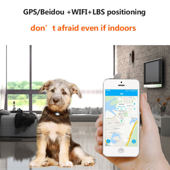 Pet GPS Tracker Dog Collar Waterproof IP68 5Days Standby Geo-fence Mini GPS Tracker Cat GPS Collar Voice Call WiFi+LBS FREE APP 2