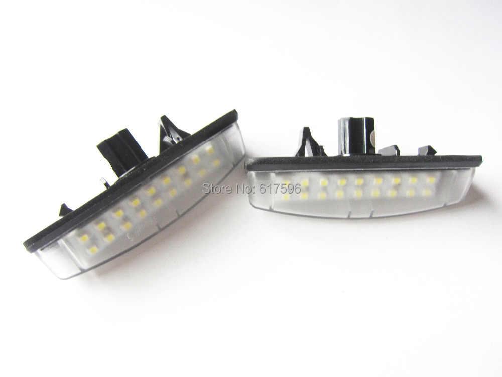Brak błędu Xenon biały 18SMD LED numer oświetlenie tablicy rejestracyjnej dla Toyota Camry Aurion Prius Lexus IS300 LS430 GS430 RX330 ES300