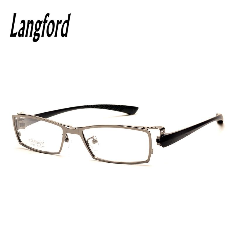 ab896e2222aba langford brand Big face man pure titanium eyeglasses frame optical TR90  legs plain glasses spectacle full
