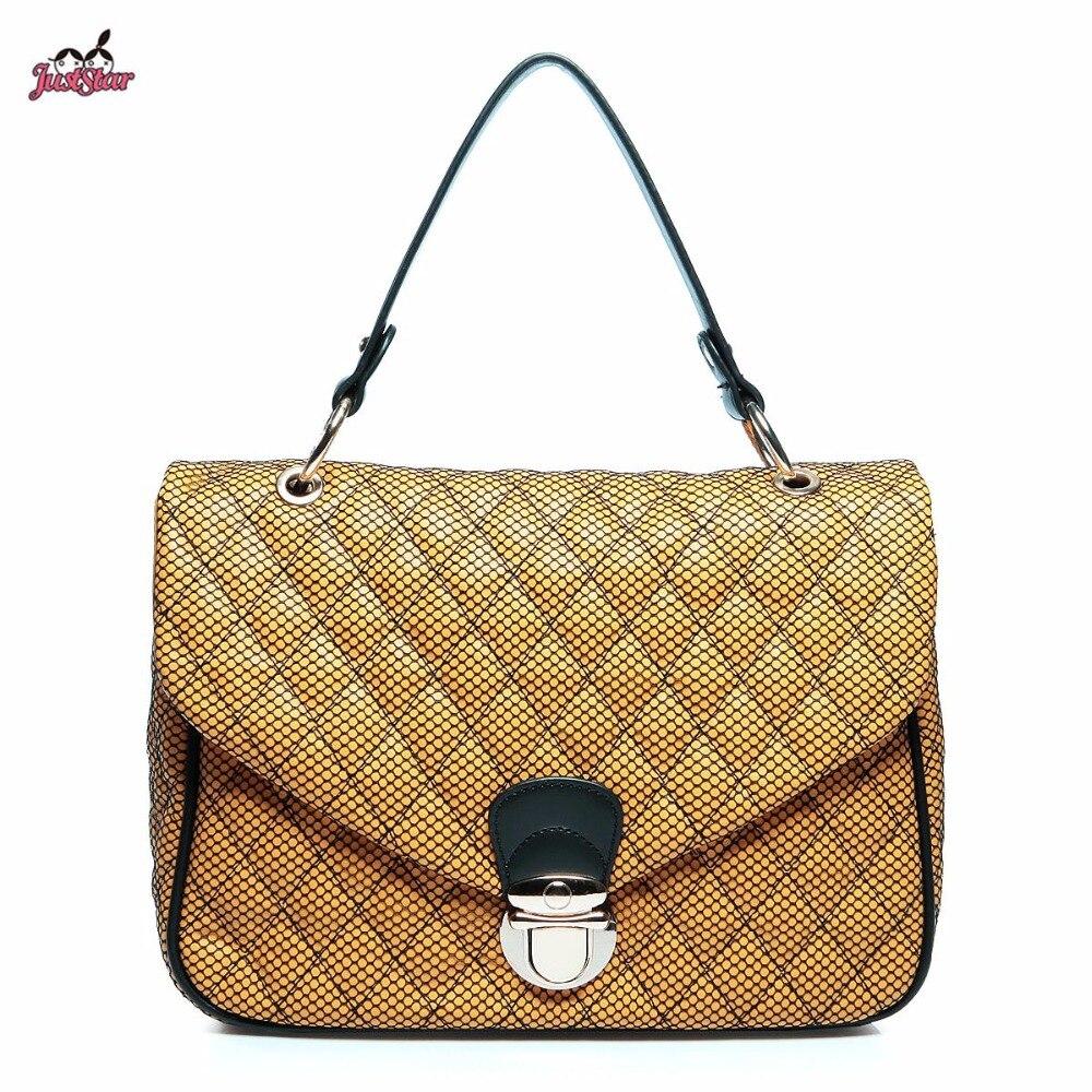 just star brand design vintage acolchar pu mujeres bolso de cuero crossbody del hombro flap bolsa
