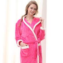 dfadb11850e2a9 Flanell Mit Kapuze Paare Bademäntel Frauen Roben Winter Dressing Kleider  Für Frauen Männer Weibliche nachthemden Kimono