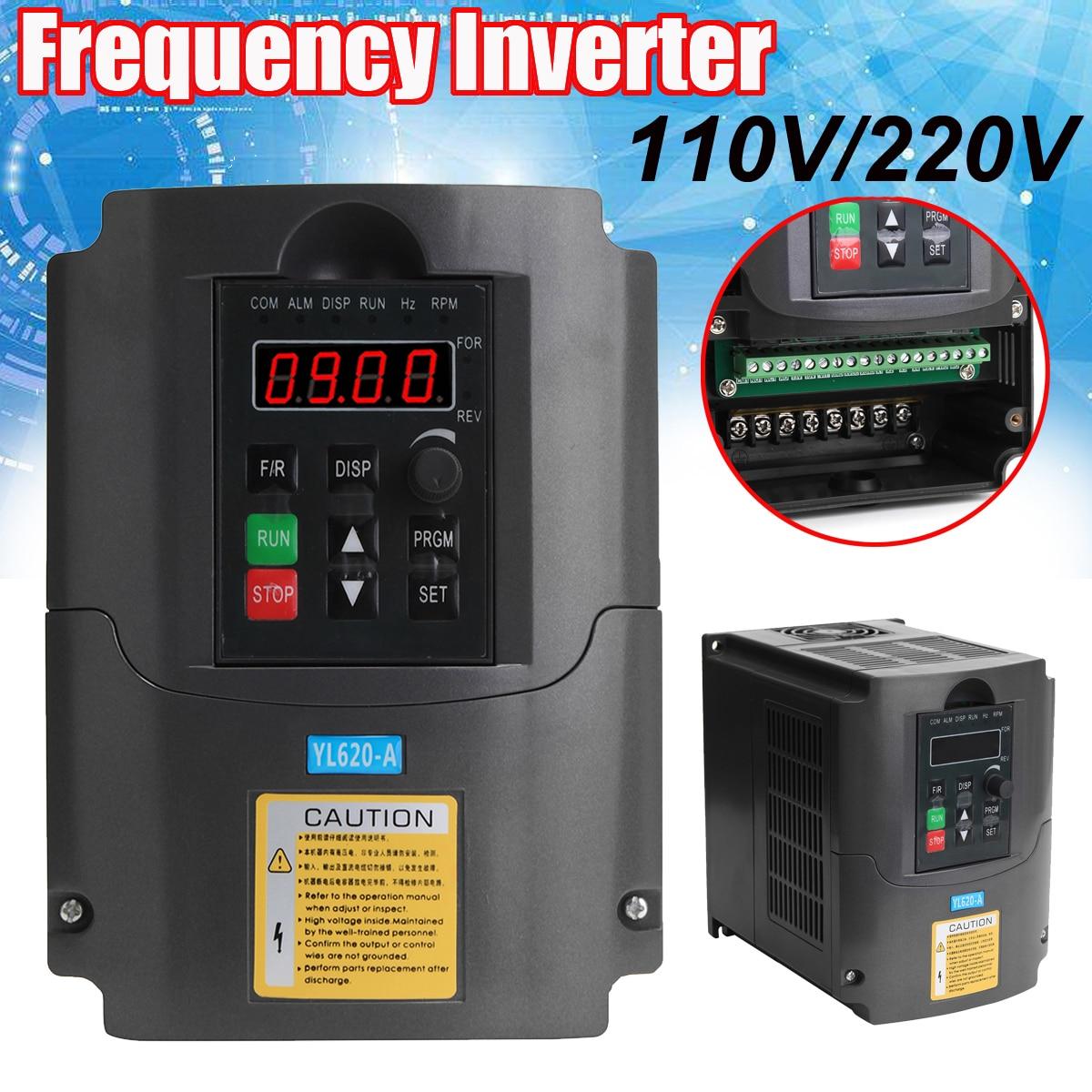 110V 220V 0 75 1 5 2 2KW Variable Frequency Inverter Converter 3 Phase Output Single