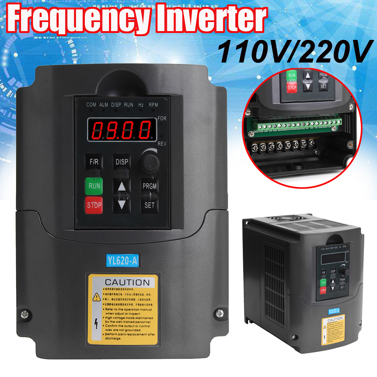 110V/220V 0.75/1.5/2.2KW Variable Frequency Inverter Converter 3 Phase Output Single Phase Input Space Voltage Vector Modulation 110v 2 2kw ac variable frequency inverter converter 3 phase output single phase input space voltage vector modulation