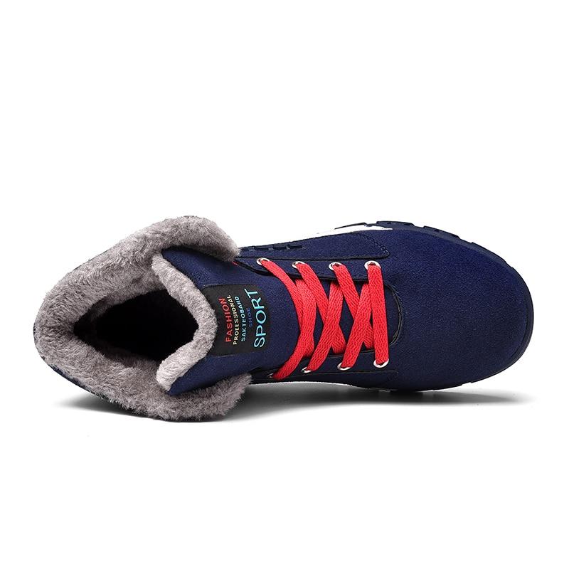 Botas Para Plus Inverno azul Masculinas Size Walking Borracha Calçados Sapatos Homens De Bota Casuais Tênis Qualidade Trabalho 47 Preto Adulto Quente Neve 39 BXTfxw0qwn