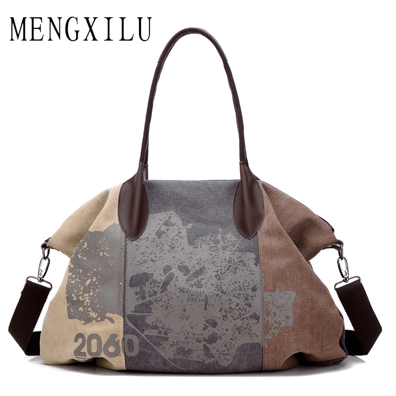 MENGXILU 2018 Designer Handbags High Quality Casual Canvas Bag Women Handbags Big Sac Femme Tote Ladies Print Shoulder Hand Bag bolsas femininas 2018 designer handbags high quality casual canvas bag women handbags sac femme tote ladies shoulder hand bag