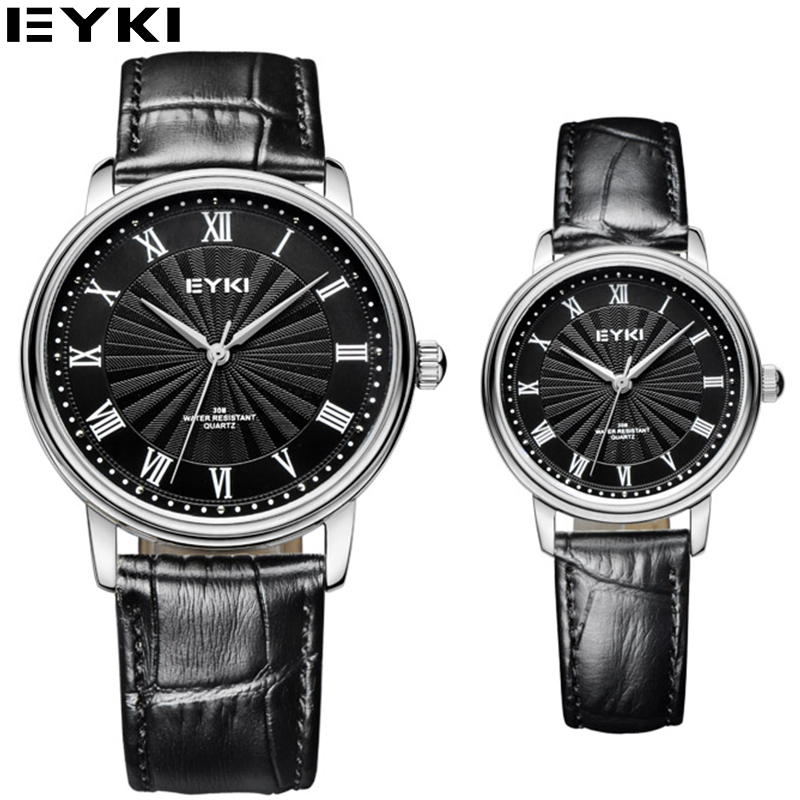 EYKI Business Designer Quartz watches for Lovers Dress Famous Brand Leather Female Clock Montre Femme Marque