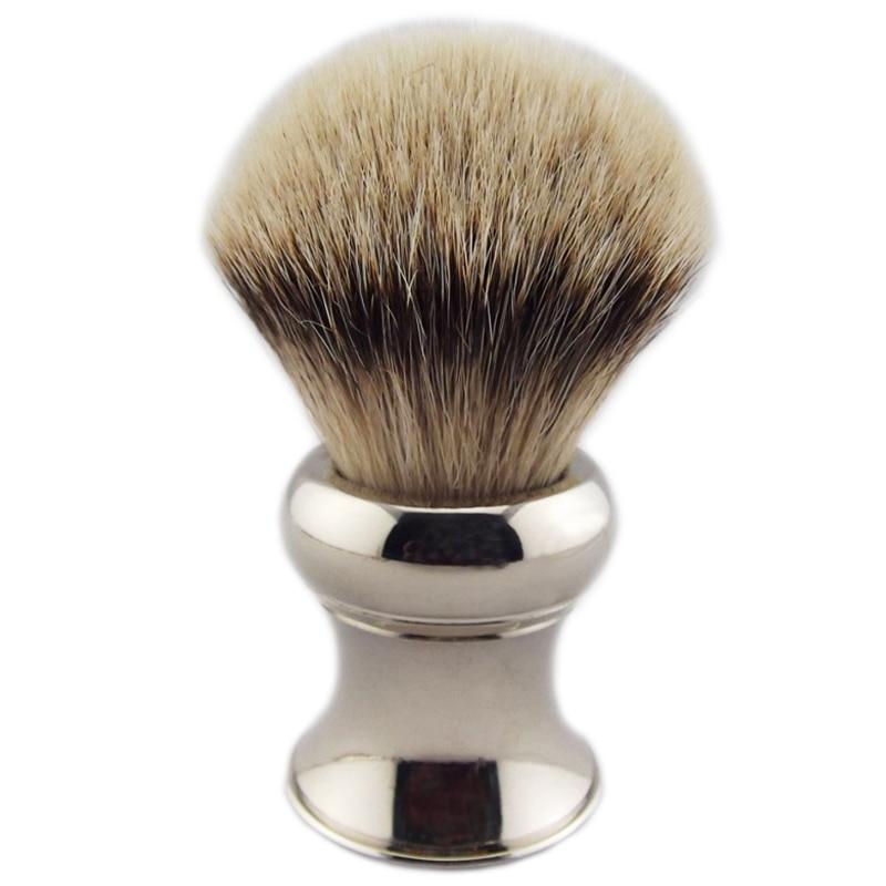 Large Size Shaving Brush Knot 29mm Silvertip Badger Hiar Heavy Metal Handle Man Beard Remove