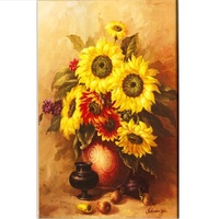 5D Needlework DIY Diamond Embroidery Sunflower Picture Mosaic Full Square Rhinestone Flower Painting Larger Size Crystal