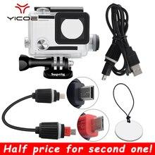 Pour Gopro Hero 4/3 +/3 Action caméra accessoires charge étanche boîtier cadre sous marin chargeur coque boîtier boîte