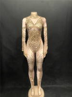 Для женщин пикантные блестящие золотые горный хрусталь комбинезон боди этап одежда Для женщин праздновать певица ночной клуб костюм наряд