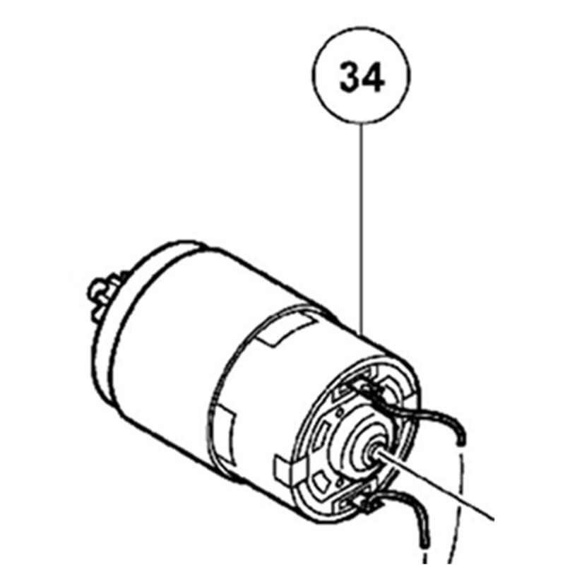 Motor 327153 For Hitachi DV18DCLMotor 327153 For Hitachi DV18DCL