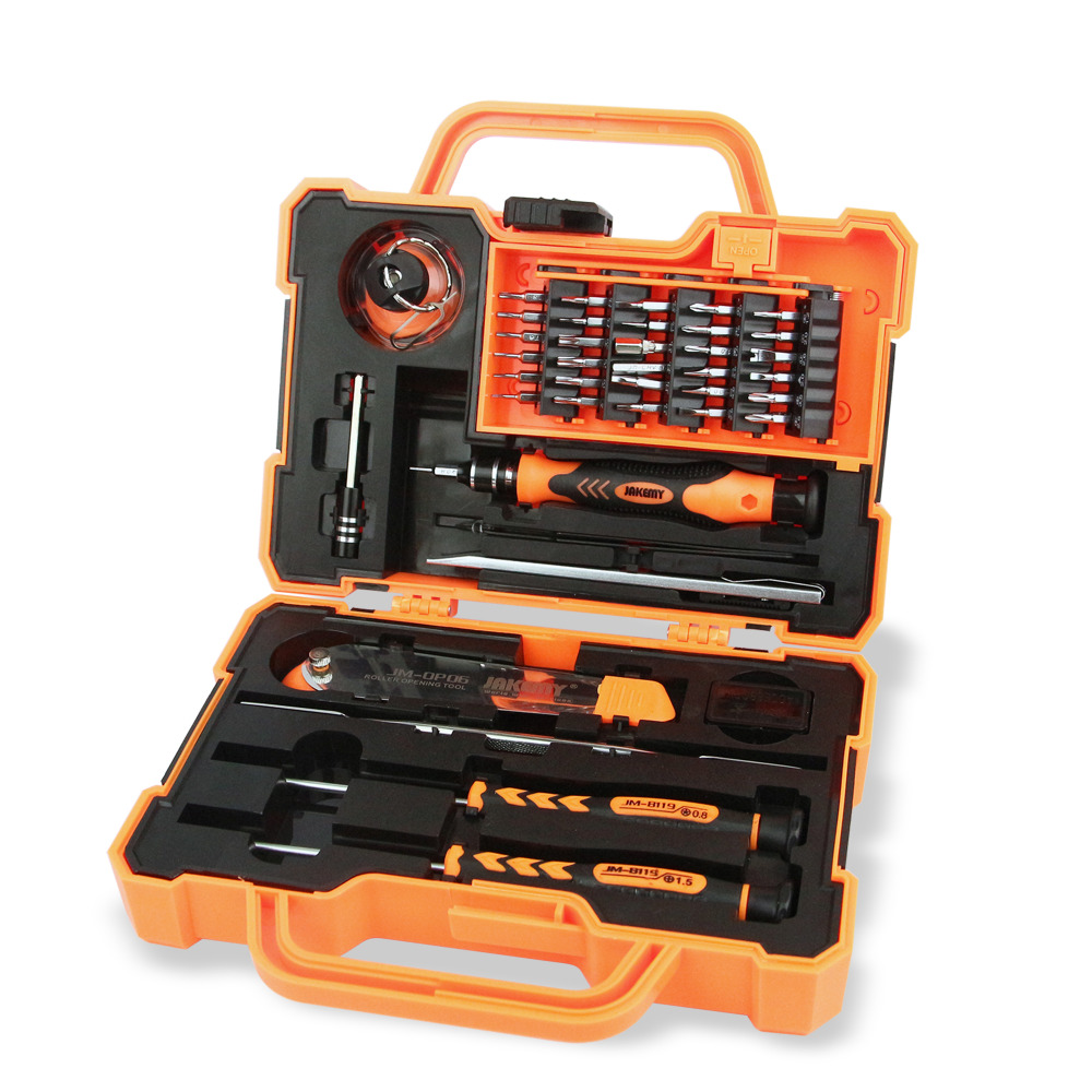 JAKEMY JM-8139 45 in 1 Electronic Precision Screwdriver Set Hand Tool Box Set Opening Tools for iPhone PC Repair Tools Kit kanen stereo headphone w microphone red black 3 5mm jack 210cm length