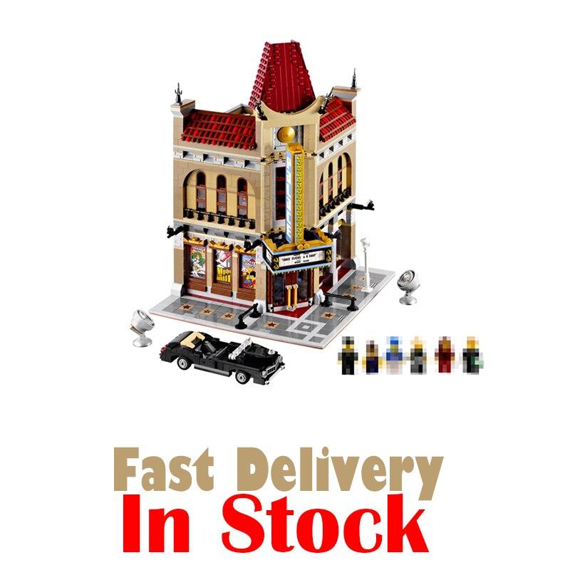 где купить LEPIN 15006 Palace Cinema Street View Creator Building Blocks Bricks Enlighten Toys DIY For Kids Model Compatible with 10232 по лучшей цене
