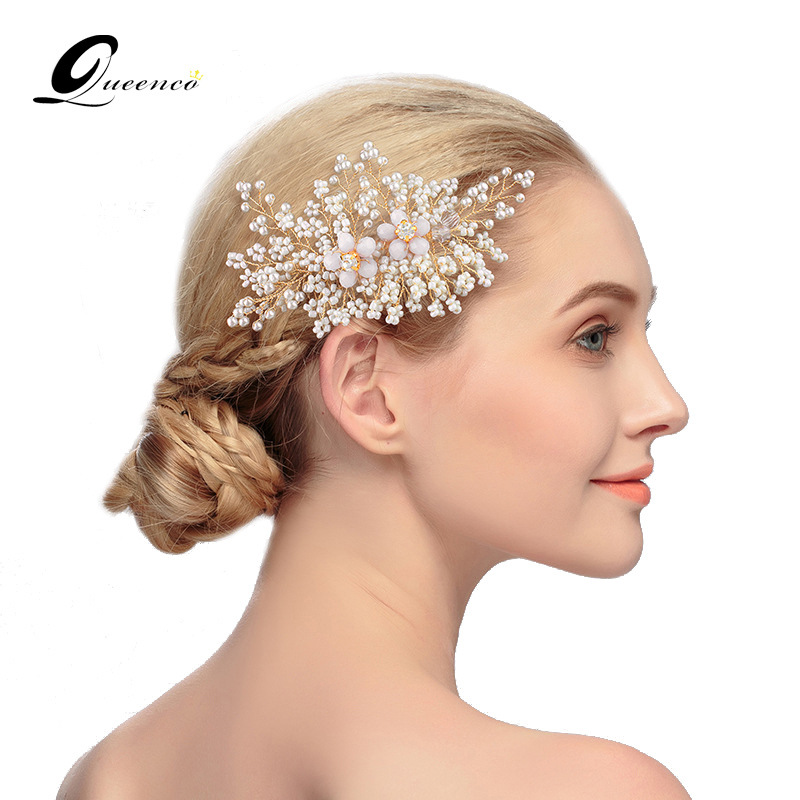 #2: Neat Bridal Hairdo with Headband. If you want to go simple for the wedding day, a delicate hair accessory like a strass or pearl headband can add that much-needed charm to your look.