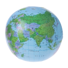Hot Sale 30CM Inflatable World Map Globe Balloon Latex Beach Ball Education Geography Kid Toys
