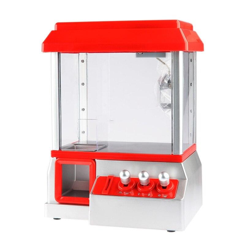 Alta calidad caramelo Grabber los niños fiesta de cumpleaños regalo favores de escritorio Mini muñecas moneda operado Grabber máquina de juego de Juguetes - 6
