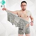 BIZHU Cortocircuitos de Los Boxeadores de La Obesidad Suave transpirable Ropa Interior de fibra de Bambú de Los Hombres U convexos esquina hombres modal impresa Flor pant