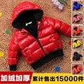 Bebé ropa de abrigo chaqueta wadded bebé de algodón acolchado chaqueta de los muchachos ropa de invierno niñas niño engrosamiento invierno niño outwear