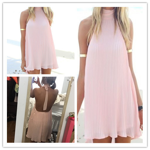 6c2af0af46 2015 Beach wrap and dresses, backless beach tunic, light pink swimsuit  cover up, pleated bathing swimsuits on Aliexpress.com | Alibaba Group
