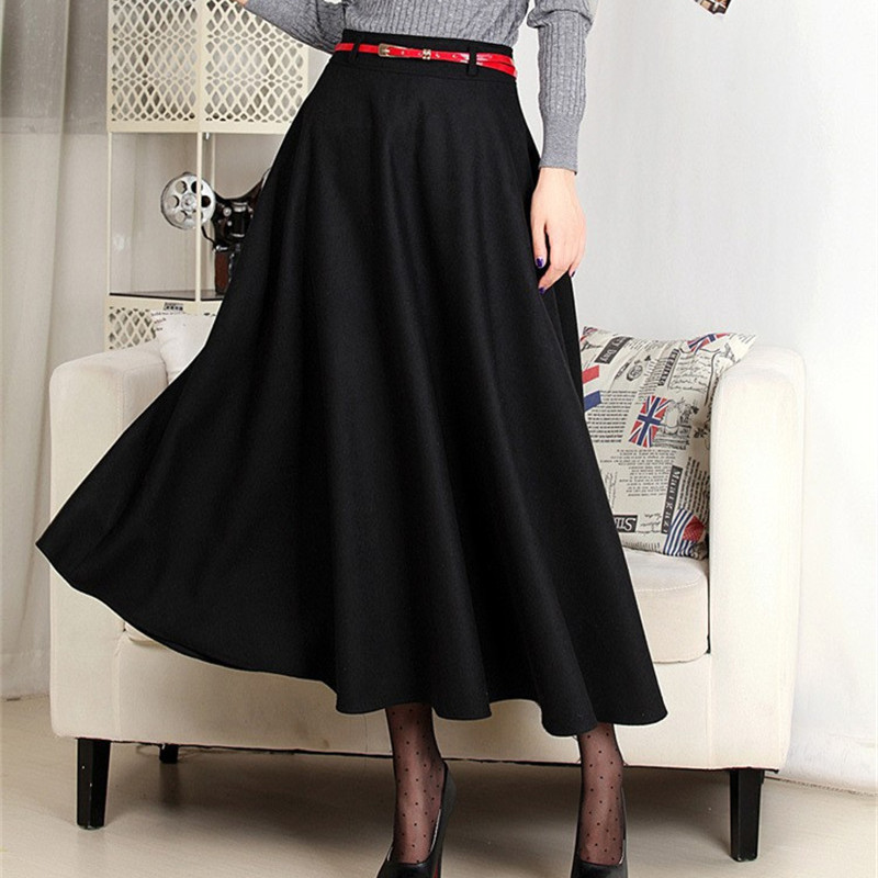 Compare Prices on Long Black Wool Skirt- Online Shopping/Buy Low ...