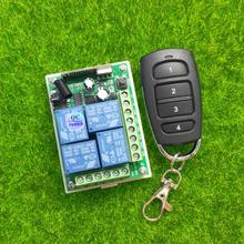 433 433mhz の dc 12V 10A 4 チャンネル RF ワイヤレスリモコンシステムレシーバトランスミッタ電動ドア/窓 /ラジオ