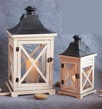 European American geometric glass flower room wedding box candlestick wind light horse lamp home decoration