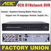 DVR 4 Channel Stand Alone Cctv Dvr NTSC PAL DVR Recorder Full D1 CCTV DVR With