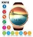 KW18 Bluetooh Apoio Tf SIM Smartwatch Relógio Inteligente Monitor de Freqüência Cardíaca para iPhone Samsung Huawei Engrenagem S2 Android Smartwatch