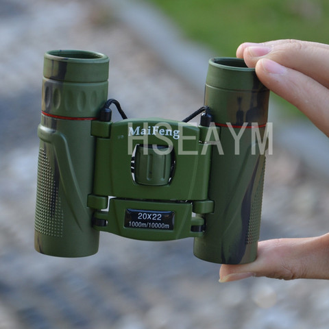 20X22 MINI Binoculars Telescope Field-glass Camouflage  Hunting Tourism Spotting Scope Portable Pocket Telescopio Green Film Multan