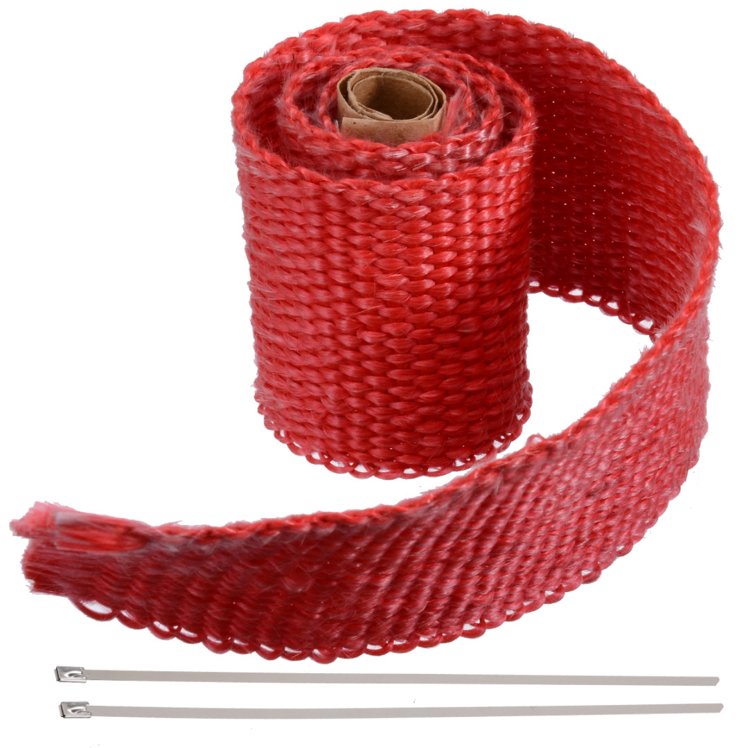 Image 2 - 50CM*5CM Motorcycles Exhaust Header Pipe Heat Wrap Manifold Shields Insulation Roll Tape Virgin Glass Fiber-in Exhaust & Exhaust Systems from Automobiles & Motorcycles