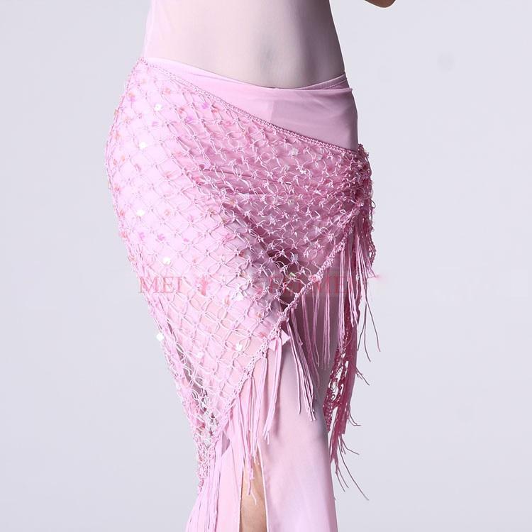 Новые стильные костюмы для танца живота с блестками, шарф для женщин, пояс для танца живота