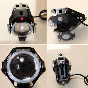 Image 3 - Huiermeimi 2PCS 125W Motorrad Scheinwerfer 3000LMW Motorrad scheinwerfer U5 U7 LED Moto Fahren auto Nebel Spot Kopf Licht lampe DRL