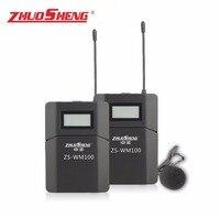 ZhuoSheng ZS WM100 петличный Беспроводной видео Камера/Мобильный телефон микрофон