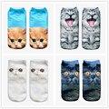 3D носки Harajuku Стиль Печати кошка женщин Носки Спортивные Носки Мужская Low Cut Лодыжки, Носки