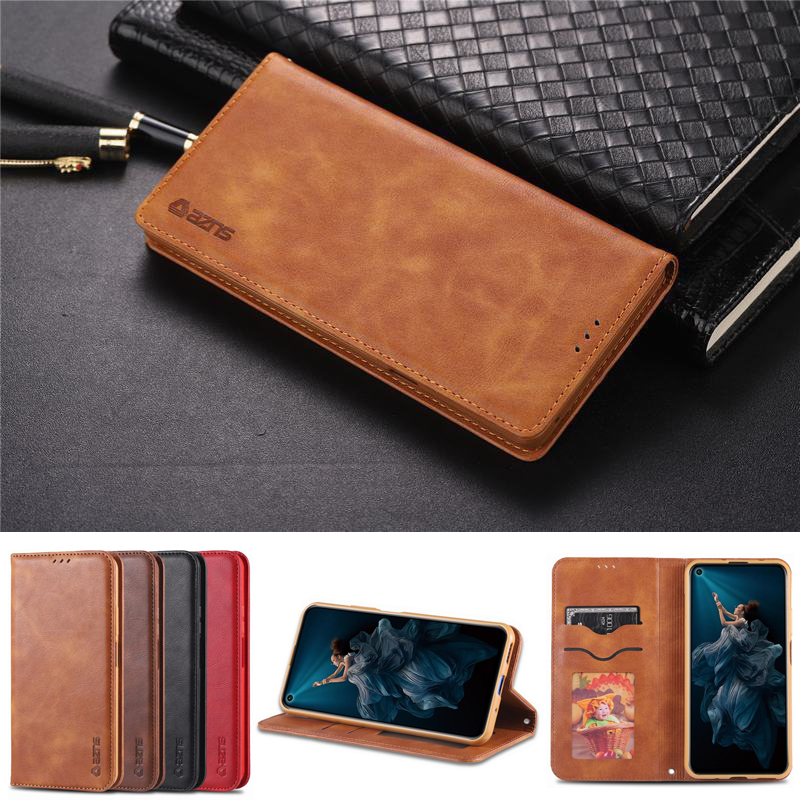 For Honor 20 Pro Cover Case Luxury Magnetic Flip Vintage Plain Matte Wallet Leather Phone Cases For Huawei Honor 20pro 20 Coque